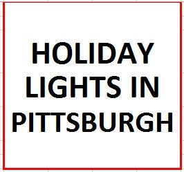 Holiday Lights in Pittsburgh on December 2, 2020
