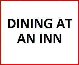 Dining at an Inn on October 12, 2019